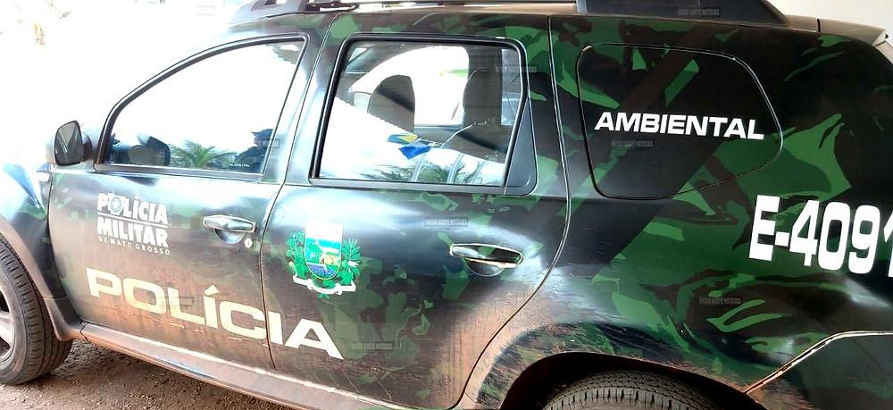 Carro da Polícia Ambiental de Barra do Bugres-MT