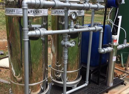 Saiba como usar um filtro para tratar a água de um poço artesiano