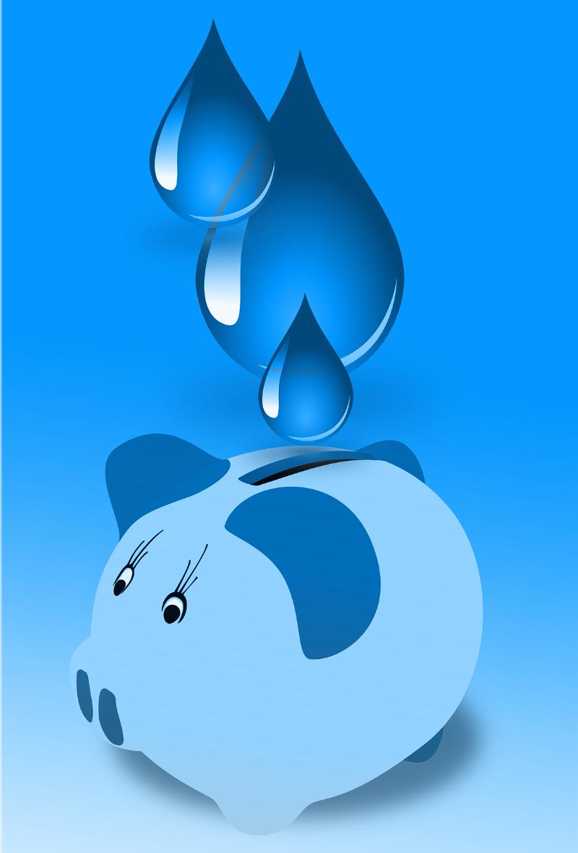 Porquinho caindo água ao invés de moedas