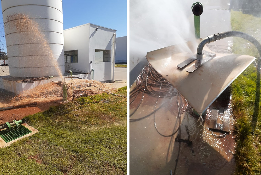 Água antes e depois da limpeza do poço artesiano