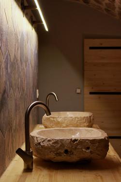 Salle de bain tonneau