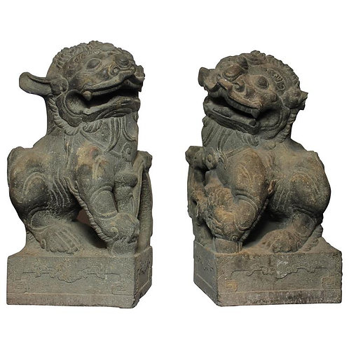 Pair of Foo Dogs, 18th Century