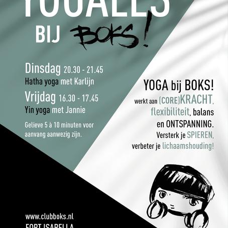 Yogalessen bij BOKS!