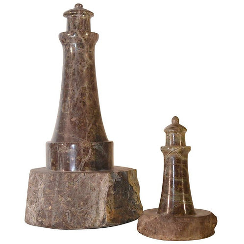 Two Marble Lighthouses