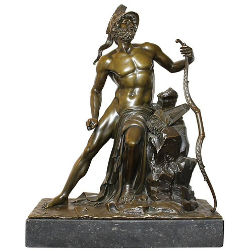 Roman Warrior in Bronze, Grand Tour, 19th Century