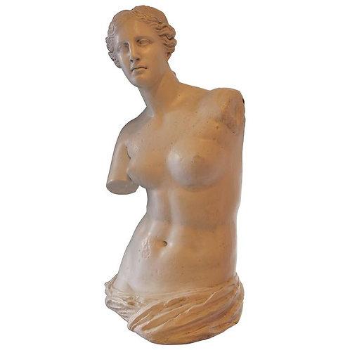 Life-size torso of Venus of Milo in stucco, 1970s