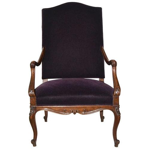 Armchair In Walnut, 19th Century