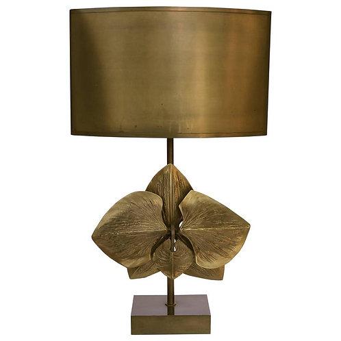 Bronze Sculptural Flower Table Lamp by Maison Charles, Paris, 1970s
