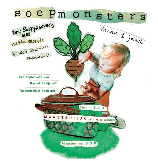Soepmonsters, Rachel Zweije, Blauwgras, Soep eten in bad