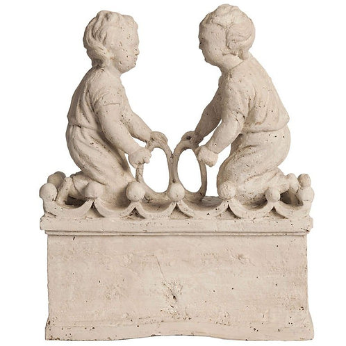 Playing Children, Flemish, Wood carved,18th century