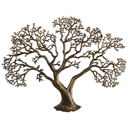 Wall Tree in Brass