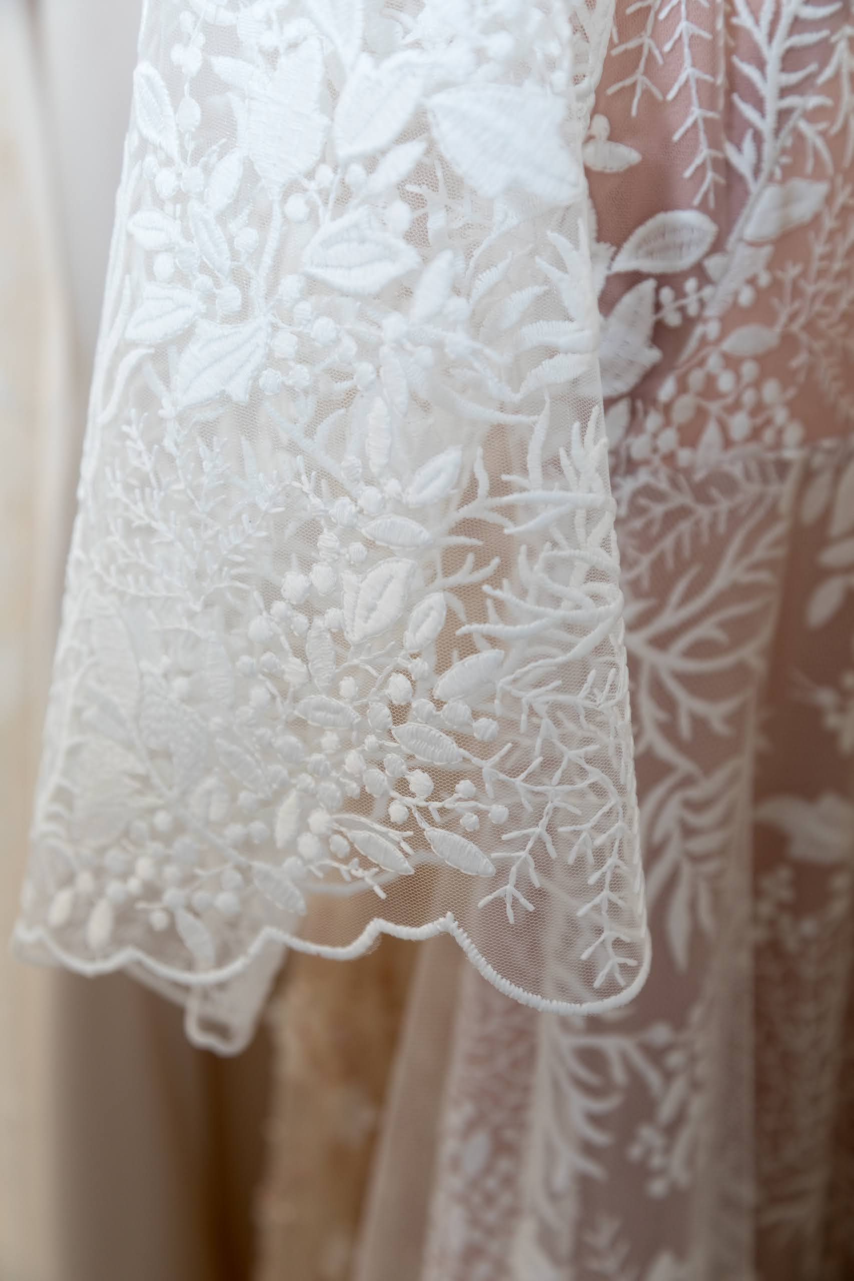Rare Bridal Studio Indie gown close up