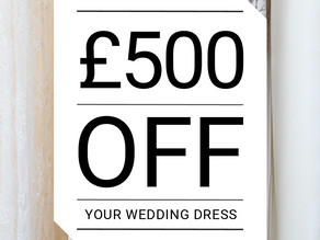 WIN £500 off your wedding dress!