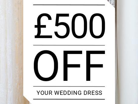WIN £500 off your wedding dress!