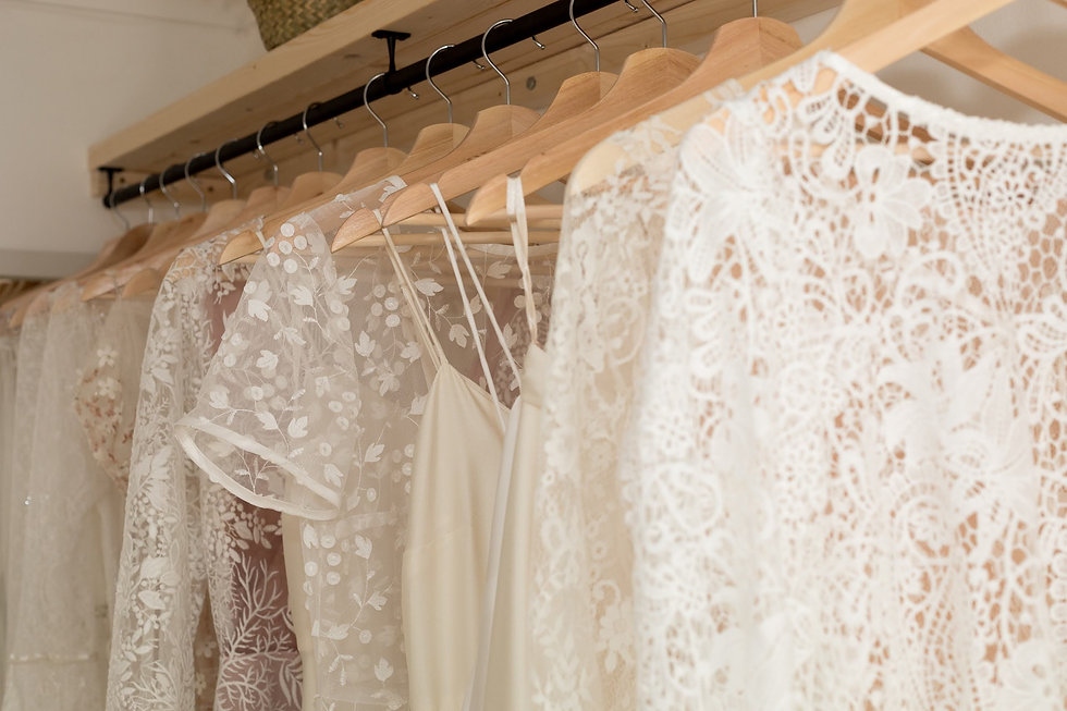 Rare Bridal Studio dresses in the studio