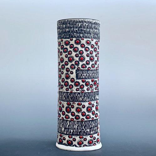 Vase Red Bursts Series