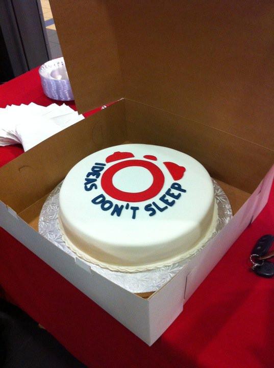 Cake with InsomniAD Logo