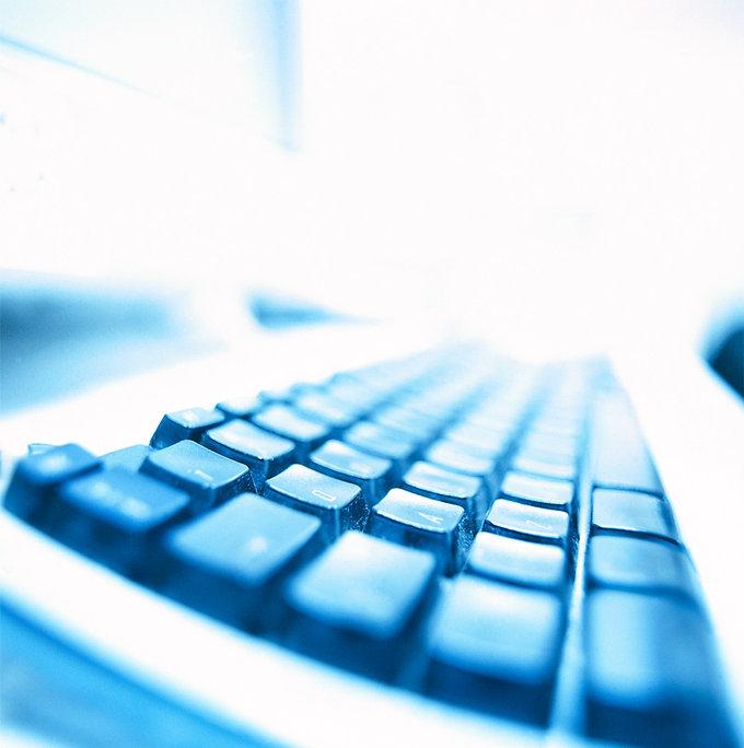 blau Tastatur
