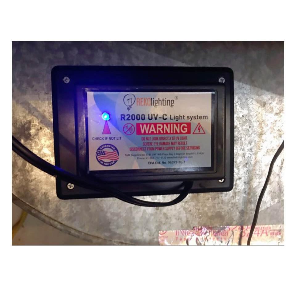 UV Light filter for AC units