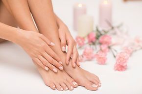 The picture of ideal done manicure and p
