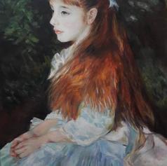 Study of Mlle Irene Cahen Danvers (Auguste Renoir)