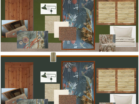 ONE ROOM CHALLANGE week 1- a small guest bedroom makover