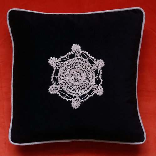 Vintage Crochet cushion cover