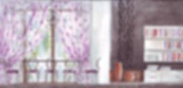 Feminin design for a family of 3 women modern design moody athmospheric design