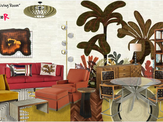 Competition: designing a luxury Parisian apartment living room