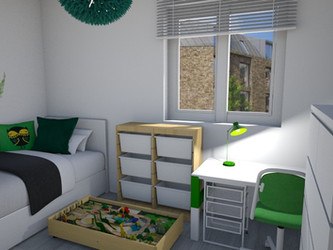 Case study - room for a boy who loves dinosaurus