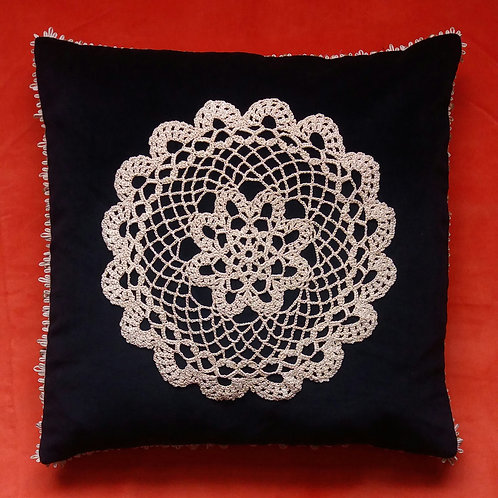 Vintage Crochet cushion cover