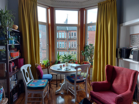 Case study - new decor for a living room (Glasgow)