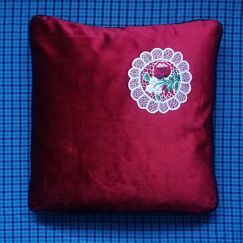 Vintage ethnic embroidery cushion
