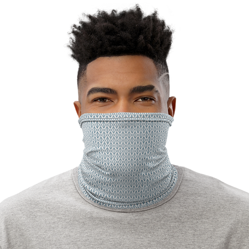 Mini Logo Neck Gaiter-Grey