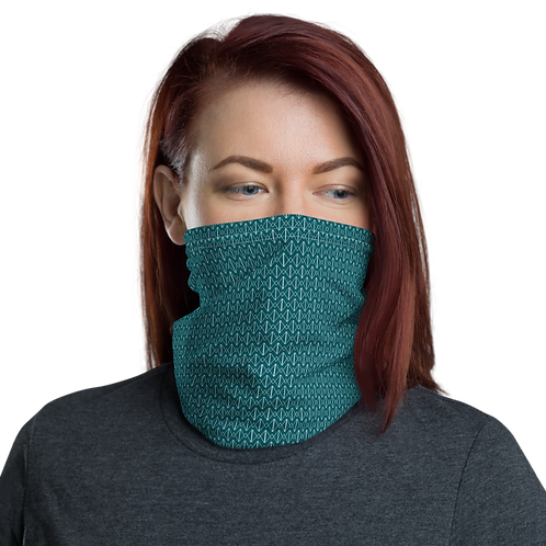 Mini Logo Neck Gaiter-Teal