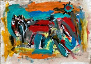 acrylic on paper - 42 x 30