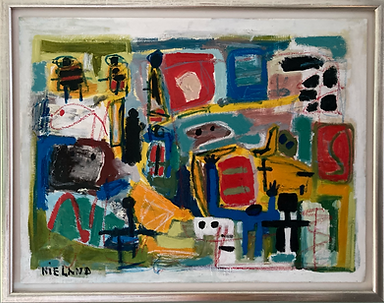 Painting John Nieland oil on paper