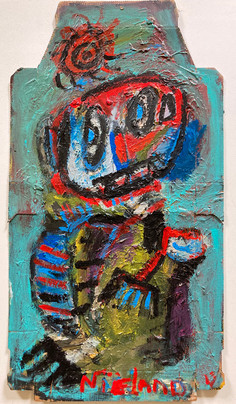 acrylic on pizzabox - 65 x 35