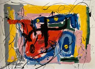 car paint on paper - 42 x 60