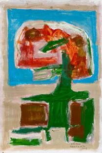mixed media op papier - 40 x 59
