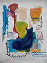 Vage Herinneringen, oil on paper - 80 x