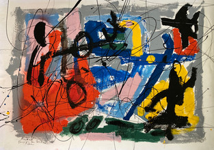 car paint on paper - 42 x 60 - Hommage a