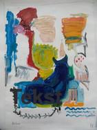 """Schilderij uit reeks """"Slag om de Schelde"""""""