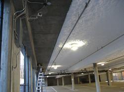 Spray on fiberglass Insulation