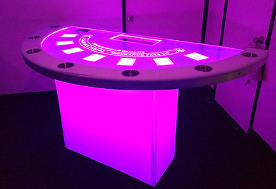Full Glow BlackJack Table