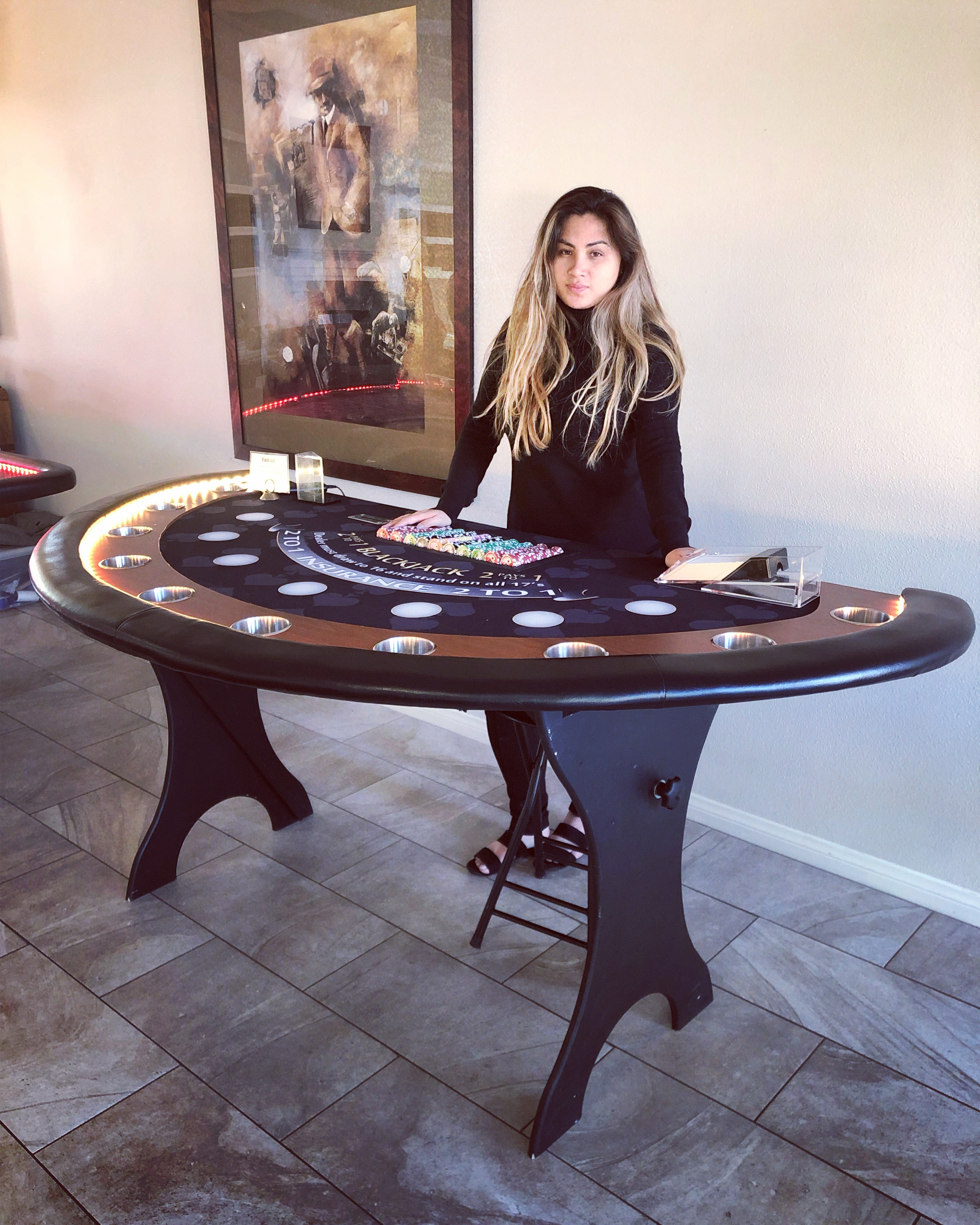 poker table for rent