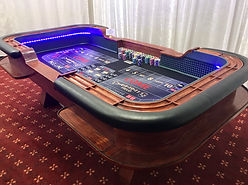 Lighted Craps Table