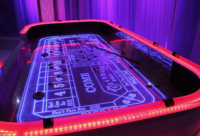 Full Glow Craps Table