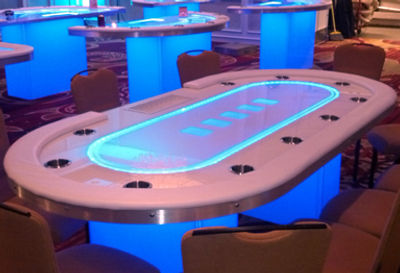 Full Glow Poker Table