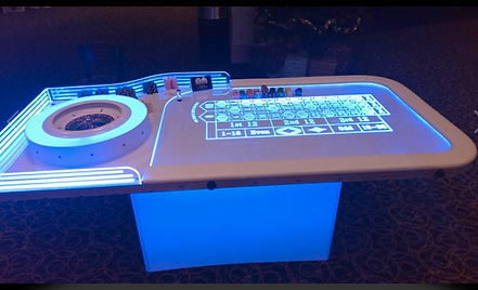 Full Glow Roulette Table